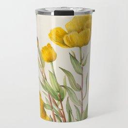 Bush Poppy Vintage Botanical Print, Mary Vaux Walcott Travel Mug