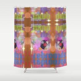 Jump On Retro Shower Curtain