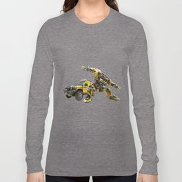 Autobot Bumblebee Transformers Vehicle And Robot Long Sleeve T-shirt