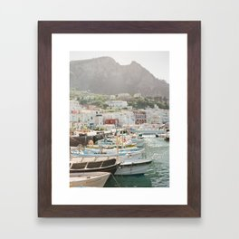 Boats of Capri Framed Art Print