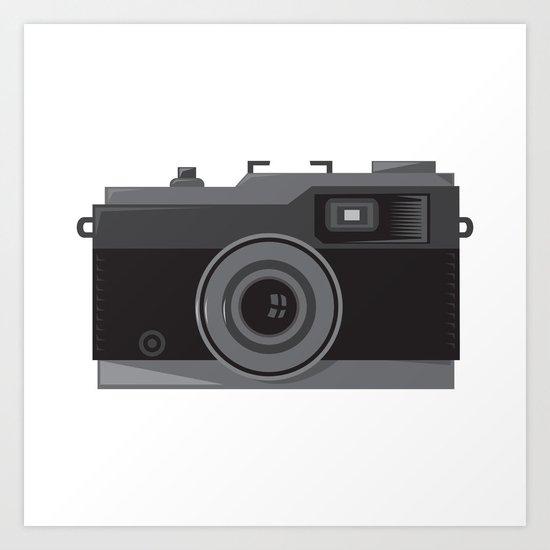 vintage camera front retro Art Print