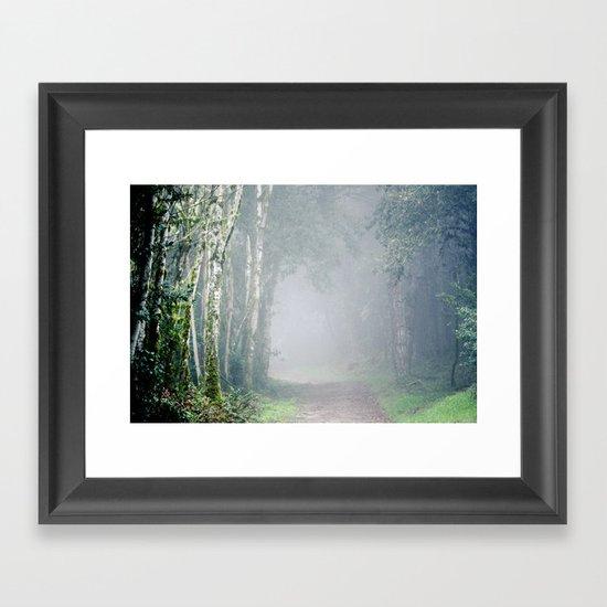 Foggy Trails Framed Art Print