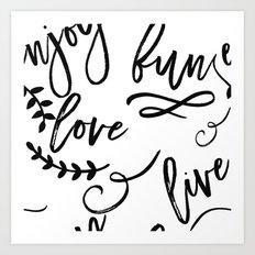 Live Love Fun Art Print