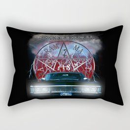 Supernatural Theme Car BlueL2 Rectangular Pillow