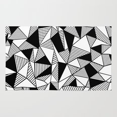 Ab Lines with Black Blocks Rug