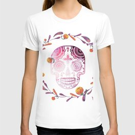 watercolor skull #4 T-shirt