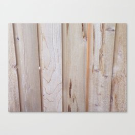 Pine Wood Fence, Boards in a Fence, Pine Boards, Wood Canvas Print