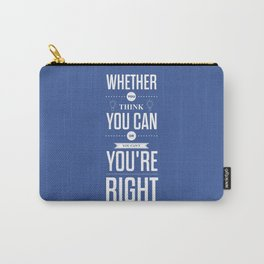 Lab No. 4 - Henry Ford Life Inspirational Typogarphy Quotes Poster Carry-All Pouch