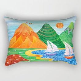 Paradise Beach Rectangular Pillow