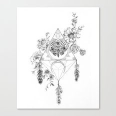 Death's Head Hawk Moth Totem Canvas Print