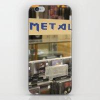 metal iPhone & iPod Skins featuring Metal by Bingz