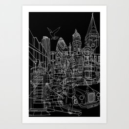 London! Dark T-shirt version Art Print