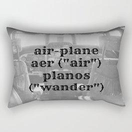 Airplane Definition Rectangular Pillow
