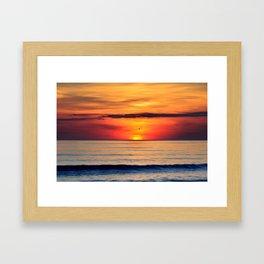 Henne Strand Sunset Framed Art Print