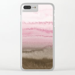 WITHIN THE TIDES STRAWBERRY CAPPUCCINO Clear iPhone Case