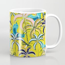 Feel The Summer Heat with Pink and Golden Palm Trees Coffee Mug