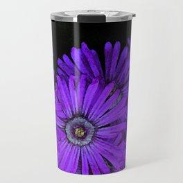 Purple succulent flowers watercolor effect Travel Mug