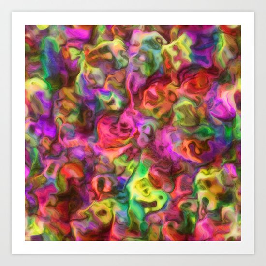 Colour Aquatica - Passion Pink Art Print