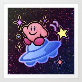Kirby UFO (no text) Art Print