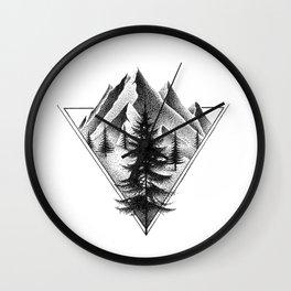 NORTHERN MOUNTAINS II Wall Clock