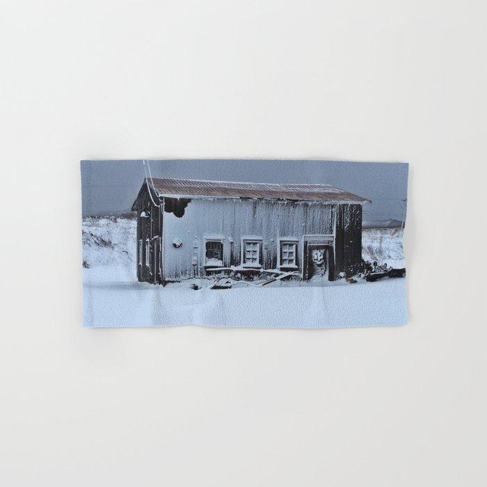 Snow Caked Barn Hand & Bath Towel