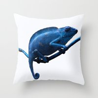 chameleon Throw Pillows featuring Chameleon by DistinctyDesign