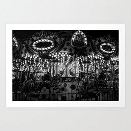 Dark Carousel Art Print