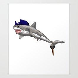 Pirate Shark Viking Novelty Halloween Art Print