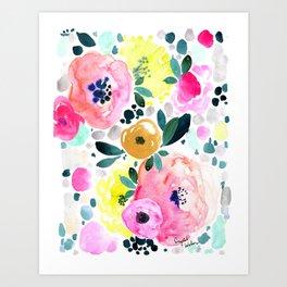 Wake Up Floral Art Print