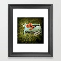 Loveletters Framed Art Print