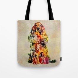 English Cocker Spaniel Dog Digital Art Tote Bag