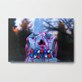 Forest Wax Bead Skull Gothic Metal Print
