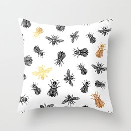 OCCULT BEES Throw Pillow