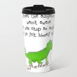 A Ansel the Aligator Travel Mug