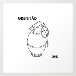 GRENNÄD Art Print