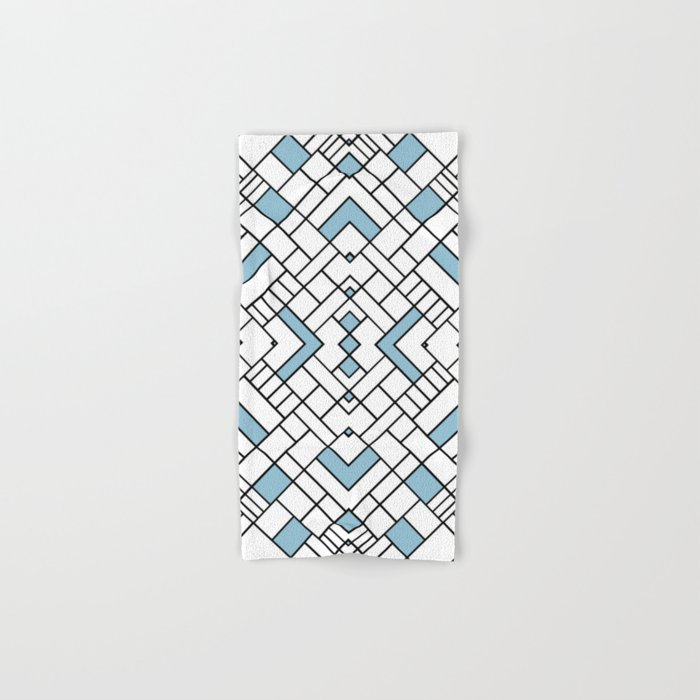 PS Grid 45 Sky Blue Hand & Bath Towel