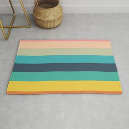 Colorful Timeless Stripes Totetsu Rug