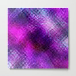 ultra violet foil flowers Metal Print