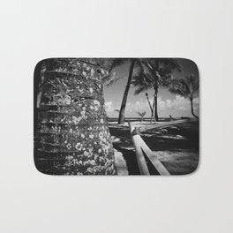 Kuau Beach Palm Trees and Hawaiian Outrigger Canoe Paia Maui Hawaii Bath Mat