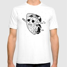 Pepperoni grab SMALL White Mens Fitted Tee