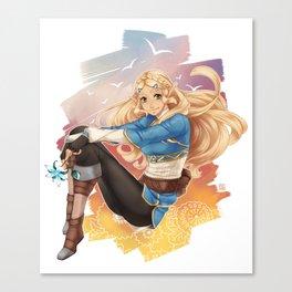 BotW Zelda Canvas Print