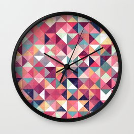 Lovely Geometric Background Wall Clock
