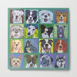 Dogs, Dogs, Dogs Metal Print