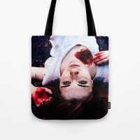 pain Tote Bags featuring Pain by Lídia Vives