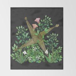 Saint Brigid's Cross in the Celtic Spring Throw Blanket