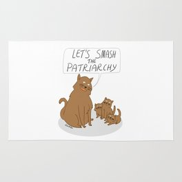 Let's Smash The Patriarchy Kittens Rug