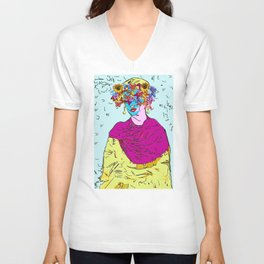 Flowers woman Unisex V-Neck