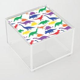Dinosaurs - White Acrylic Box