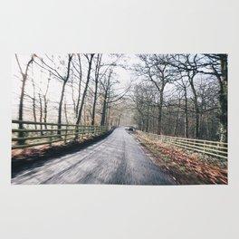 winter lanes in egland Rug