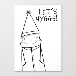 Scandinavian Hygge illustration art Canvas Print